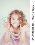 beautiful fairy of five years  | Shutterstock . vector #753464632