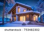 3d rendering of modern cozy... | Shutterstock . vector #753482302