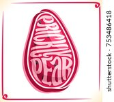 vector logo for prickly pear... | Shutterstock .eps vector #753486418