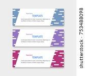 geometric design banner web... | Shutterstock .eps vector #753488098