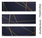 modern golden line pattern... | Shutterstock .eps vector #753491902