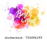multicolored splash watercolor... | Shutterstock .eps vector #753496195