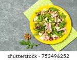 Fresh Salad With Turkey Ham ...
