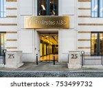 london  november 2017. an... | Shutterstock . vector #753499732