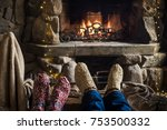 closeup of two persons legs in... | Shutterstock . vector #753500332