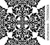 vintage baroque frame scroll...   Shutterstock .eps vector #753500626