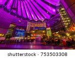 sony center in potsdamer platz  ... | Shutterstock . vector #753503308