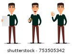 business man cartoon character. ... | Shutterstock .eps vector #753505342