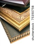 three picture frames are...   Shutterstock . vector #75350758
