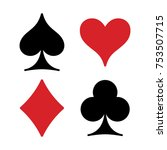 playing cards suits isolated on ...   Shutterstock .eps vector #753507715