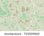 vector city map of madrid with... | Shutterstock .eps vector #753509065