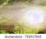 the beautiful abstract mixed... | Shutterstock . vector #753517045