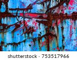 an abstract of rusting  cracked ...   Shutterstock . vector #753517966