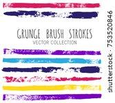 brush strokes set backgrounds.... | Shutterstock .eps vector #753520846