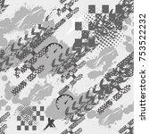 abstract seamless grunge sport... | Shutterstock .eps vector #753522232