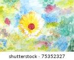 original painting of yellowish...   Shutterstock . vector #75352327