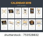 calendar with inspiring quotes... | Shutterstock .eps vector #753528832