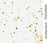 gold stars confetti celebration ... | Shutterstock .eps vector #753529045