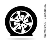 flat tire or tyre | Shutterstock .eps vector #753530836