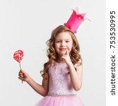 beautiful little candy princess ... | Shutterstock . vector #753530995