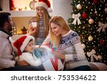 magical christmas   happy... | Shutterstock . vector #753534622