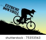 extreme downhill ride   Shutterstock .eps vector #75353563