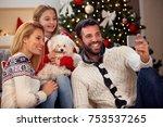 christmas time family self... | Shutterstock . vector #753537265