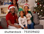 portrait of happy family in...   Shutterstock . vector #753539602