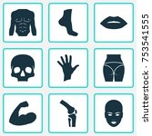 includes icons such as knee ... | Shutterstock .eps vector #753541555