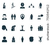 includes icons such as group ... | Shutterstock .eps vector #753541912