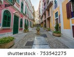 scenic street in the old town... | Shutterstock . vector #753542275