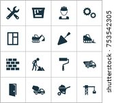 includes icons such as engineer ... | Shutterstock .eps vector #753542305