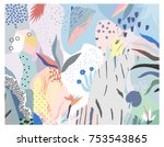 creative universal artistic... | Shutterstock .eps vector #753543865