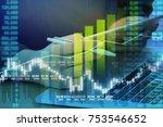 business man digital stock... | Shutterstock . vector #753546652