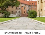 stone walkway in the park with... | Shutterstock . vector #753547852