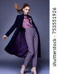 beautiful sexy business woman... | Shutterstock . vector #753551926