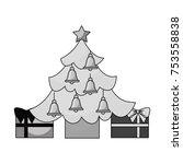 merry christmas happy tree star ... | Shutterstock .eps vector #753558838