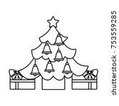 merry christmas happy tree star ... | Shutterstock .eps vector #753559285