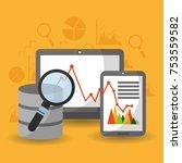 data center analysis research... | Shutterstock .eps vector #753559582