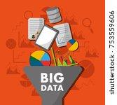big data process analysis... | Shutterstock .eps vector #753559606
