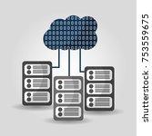cloud computing data server... | Shutterstock .eps vector #753559675
