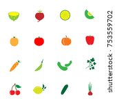 vegetable and fruit icon color... | Shutterstock .eps vector #753559702