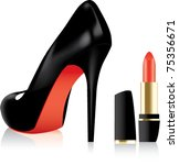 Vector High Heel Shoe And A...