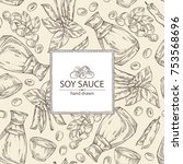 background with soy sauce  a... | Shutterstock .eps vector #753568696