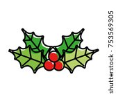 merry christmas decoration... | Shutterstock .eps vector #753569305