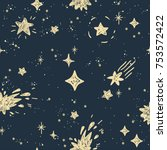 space stars background  night... | Shutterstock .eps vector #753572422