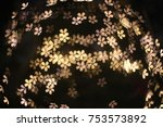 night flower bokeh | Shutterstock . vector #753573892