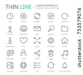 collection of user interface... | Shutterstock .eps vector #753579076