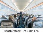 interior of passengers... | Shutterstock . vector #753584176