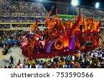 rio de janeiro  brazil  ... | Shutterstock . vector #753590566